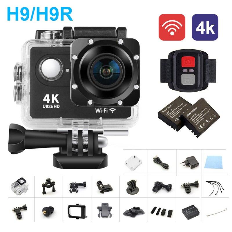 Sports dv 4 K full HD sport caméra WiFi plongée en plein air casque étanche mini caméra 2.0 écran H9 h9r