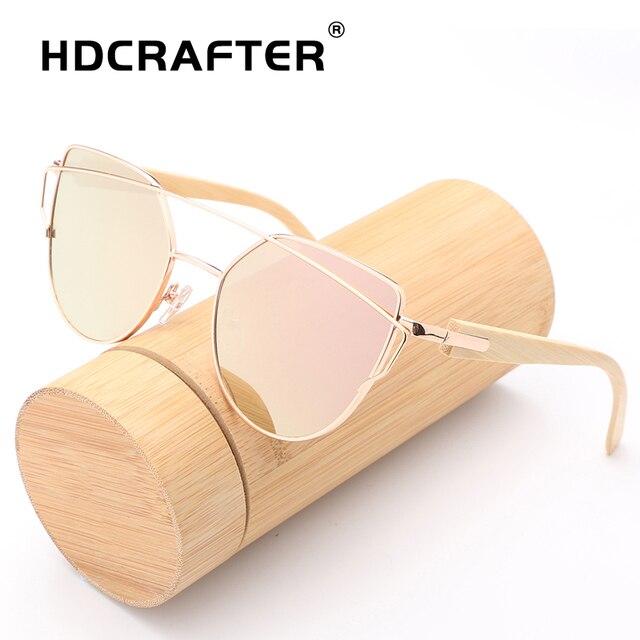 423ef9db714 Cat Eye Sunglasses Women Brand Designer Vintage Sunglasses Ladies Bamboo Sun  Glasses Retro Shades Oculos de sol Feminino UV400