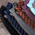 19 Estilos Lazos Lazos de Los Hombres de Lujo de Negocios Casual Para Hombre de la Tela Escocesa sólido Corbata del lazo 5 cm Del Banquete de Boda Formal Delgado Lazo Rayado CJ612