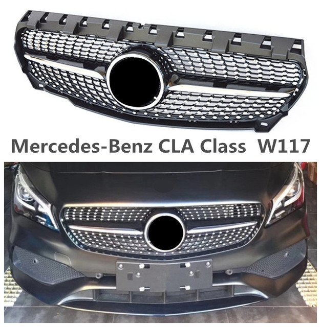 Front Grille Racing Grills For Mercedes Benz CLA Class W117 CLA63 2013 2014  2015 2016