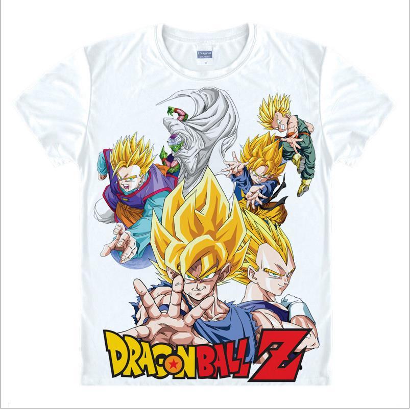 dragon ball z camiseta para hombre Super Saiyan goku Camiseta Sun Wukong Piccolo Master Roshi Camiseta clásica Anime Vegeta unisex camiseta