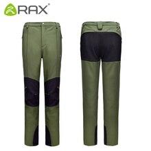RAX Ourdoor Pants Men Surface Waterproof Hiking Pants Men Windproof Fleece Camping Softshell Trekking Pants Men Pantalon Hombre