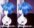 New Arrival Touken Ranbu Online Sayo Samonji Wig Sayosamonji Short Curly Aqua Blue Cosplay Costume Wigs With Ponytail