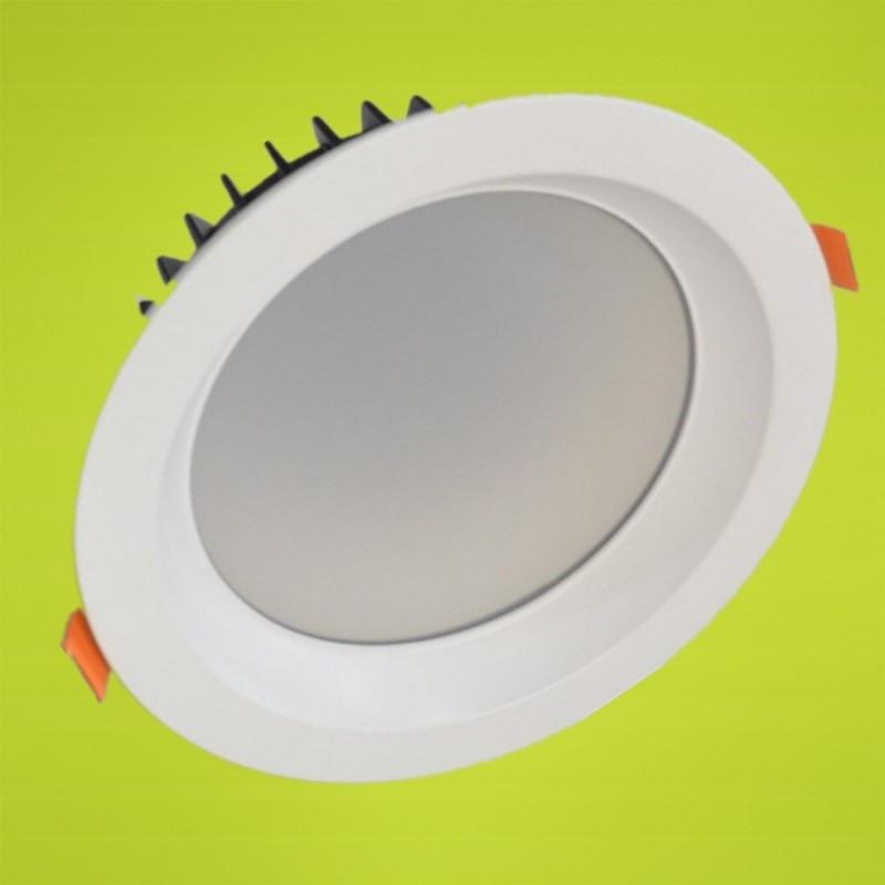 ФОТО LED Downlights COB Ceiling Recessed Down Light 7W/10W/12W/15W/20W/30W/40W Dimmable Retrofit Kitchen Bathroom White Lights