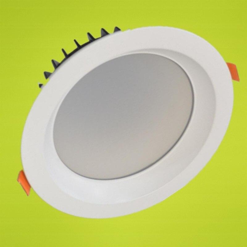 LED Downlights COB plafond encastré vers le bas lumière 7 W/10 W/12 W/15 W/20 W/30 W/40 W Dimmable modification cuisine salle de bains lumières blanches