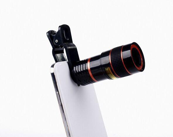 Universal 8x zoom óptico da câmera do telescópio lente do telefone móvel para sony z z1 z2 z3 z4 z5 mini compacto de vidro + do metal lentes