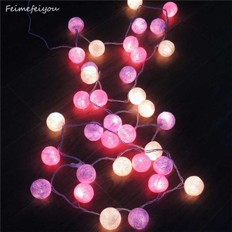 Feimefeiyou 20 lamp beads Thailand decorative lights series of cotton ball lights bar shop window decoration lights