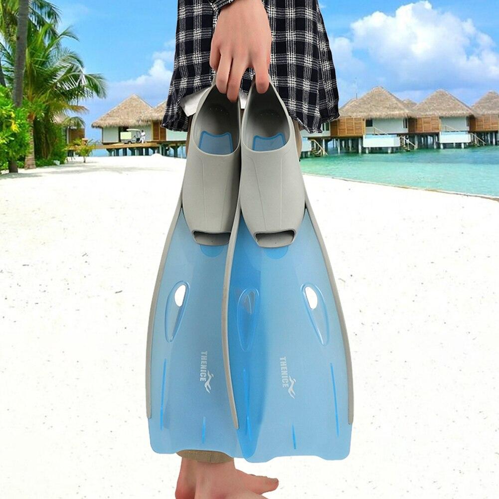 Palmes de natation portables adultes palmes de plongée palmes de plongée débutant équipement de plongée