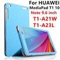 Чехол для Huawei MediaPad T1 10  защитный умный чехол из искусственной кожи для планшета HUAWEI Note 9 6  T1-A21W  защита для T1-A23L