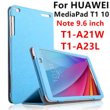 Case For Huawei MediaPad T1 10 PU Protective Smart cover Leather Tablet For HUAWEI Note 9.6 T1-A21W T1-A23L T1-A21L Protector