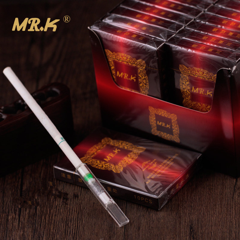 Mr.k Silm Cigarettes Filter Holder Mouthpiece 10pcs/pack Reduce Tar And Nicotine Filter Mouthpiece Three Stage Filtration Holder