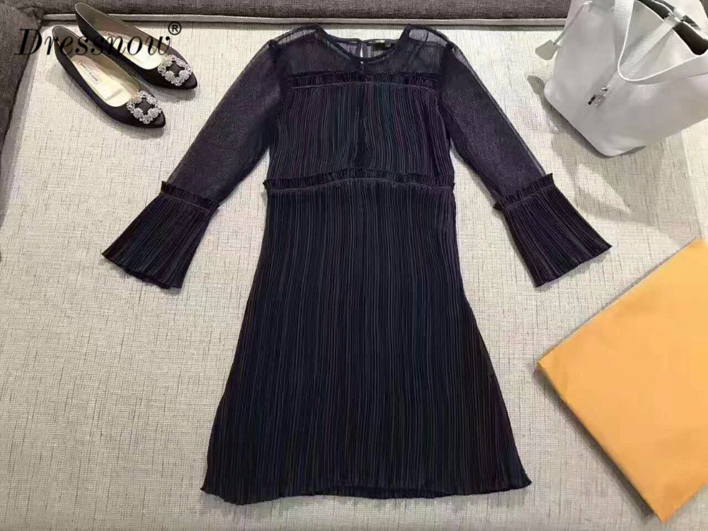 Высокое качество Женские модельные пикантные черные сапоги ночь Ангел узор короткий рукав сетка выдалбливать Роскошные платья