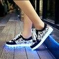 Unissex Tamanho 35-43 Shoes Led Glowing 11 Cores LEVOU Homens moda Luminous Led Light UP Shoes para Adultos frete grátis 2017