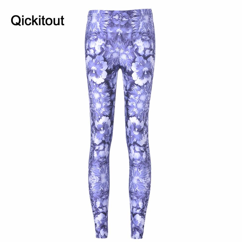 Free shipping New Hot Women New Pants Women Trousers Fashion Blue flowers Sketch Pant Capris Cute