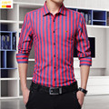 Szyid brand clothing spring men casual shirt striped slim fit style long sleeve cotton blouses embroidery men shirts B014