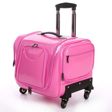 Trolley cosmetic case,Professional nail art tattoo toolbox,Universal wheel luggage,Multi-layer large capacity beauty suitcase(China)
