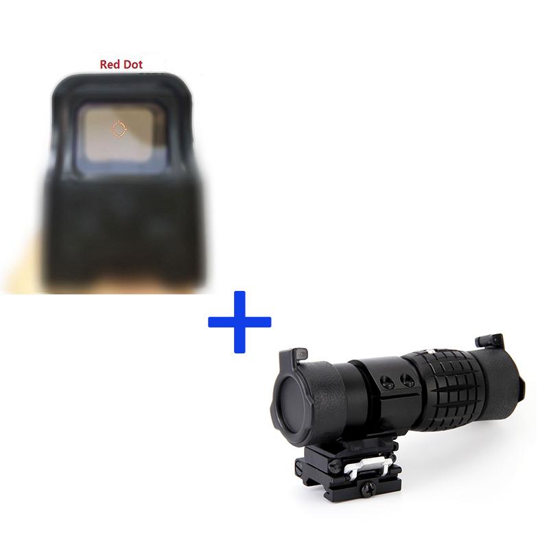551 Holographic Ottica Riflesocpe Tactical Red E Green Dot Reflex Sight + 3X30mm Ingrandimento Portata di Messa A Fuoco per caccia