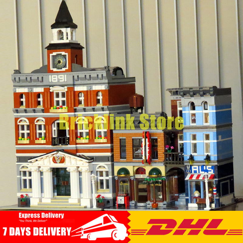 DHL Lepin City Street Series 15003+15011 Building Blocks Bricks Model Toys For Children Birthday Gifts Clone 10224 10197 lepin 02064 404pcs city series jungle semi track car model building blocks bricks toys for children action figures