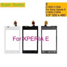 Touchscreen 3.5 For Sony Xperia E C1505 C1504 C1605 C1604 Touch Screen Digitizer Front Glass Panel Sensor Lens