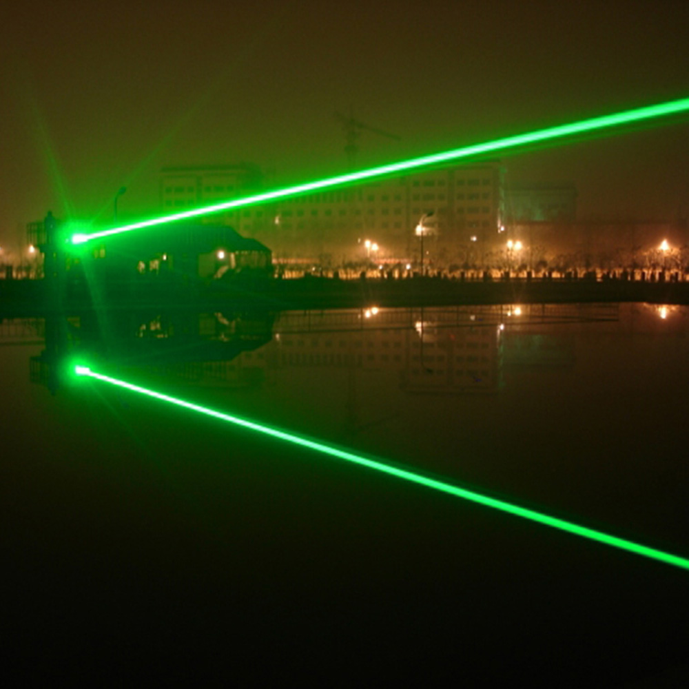 focalizável ponteiro laser verde com bloqueio (preto)