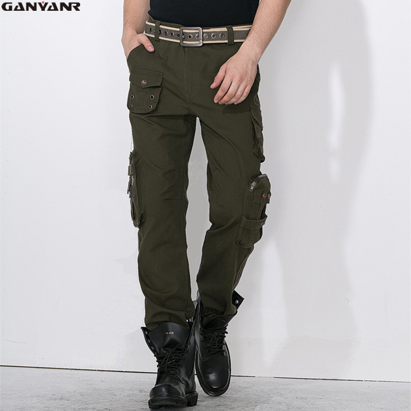 GANYANR Brand Sports Climbing Camping Hiking Softshell Outdoor Long Pants Full Length Winter Swat Tactical Trousers Military
