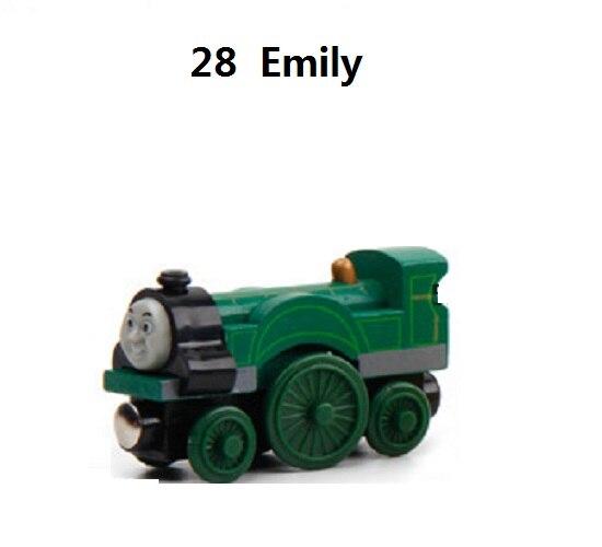 Деревянные магнитные паровозики, игрушки для железной дороги, деревянные паровозики для детей, подарок для детей, модель поезда - Цвет: Сиренево-синего цвета