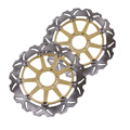 Arashi Front Brake Disc Rotors Set For Ducati 748 888 996 998 GT 1000 JUNIOR SS 350 Gold