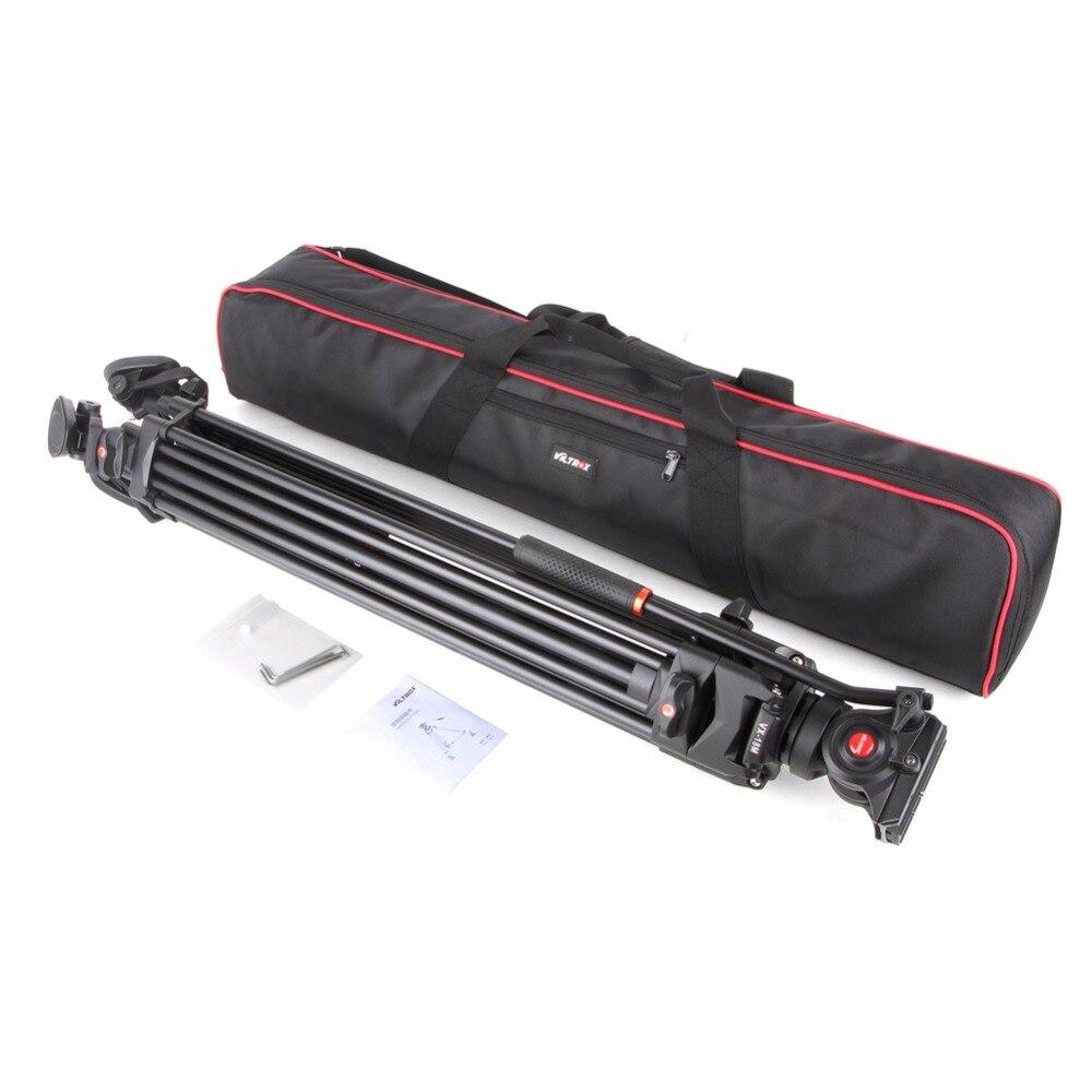 Viltrox VX-18M 74 pouce Professionnel En Aluminium Portable Caméscope Caméra Trépied + Fluide Tête Cylindrique Horsehoe Pour Photo Vidéo Charger 10 kg - 6