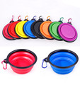 Silicone Collapsible Dog Feeding Bowl Silicone Water Dish Cat Portable Feeder Puppy Pet Travelling Bowls portable water bowl pet