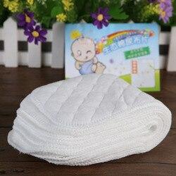 10 шт. детские подгузники многоразовые детские тканевые подгузники для новорожденных с вкладышами, 3 слоя хлопка, размер S, L