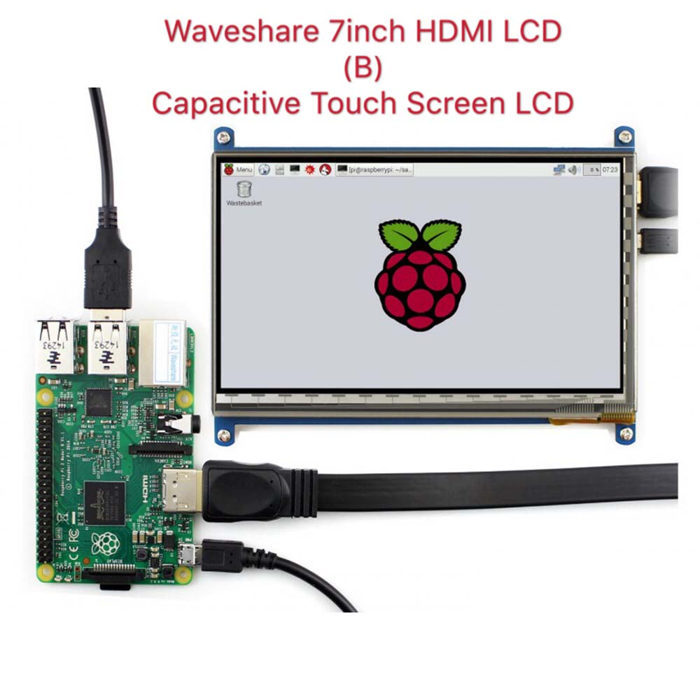 Waveshare7inch HDMI LCD (B) ,800*480, 7'' Capacitive Touch Screen,HDMI interface, for Raspberry Pi,Support Windows10/8.1/8/7 брюки 7 8 quelle b c best connections by heine 154161