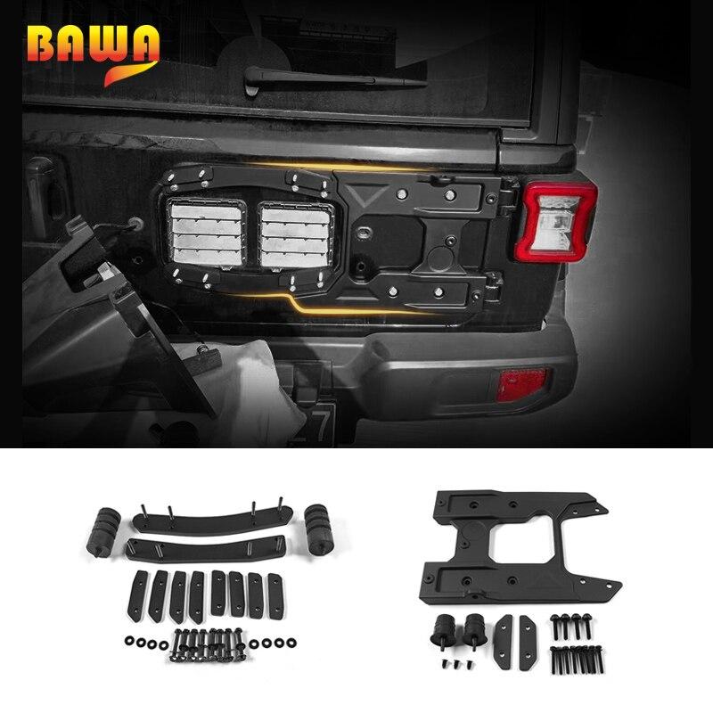 BAWA Kit de montage de pneu de rechange pour Jeep Wrangler JL 2018 hayon accessoires de support de pneu de rechange pour Jeep Wrangler jl