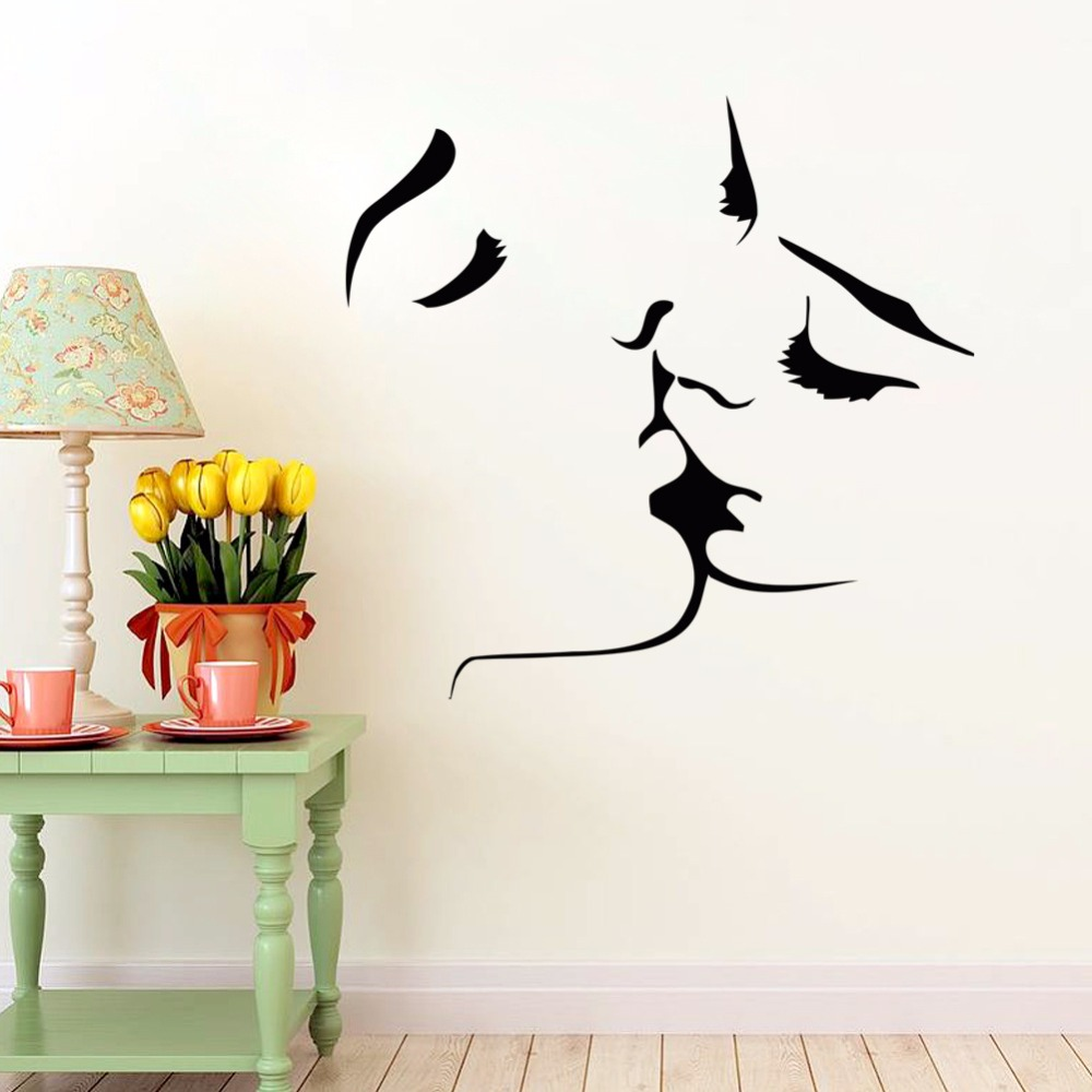 Bird decor bathroom - Wall Stickers For Kids Room Home Decorations Kissing Couples Bedroom Living Room Sofa Setting Wall