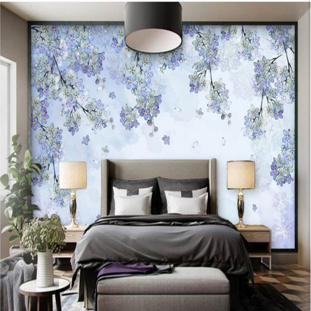 3D Wall Mural in Wallpapers Pastoral Nov Woven Fabric Wallpaper Hand