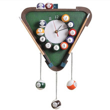 Continental Billiards Snooker retro wall clock den bedroom process linked tables creative personality living room mute watches