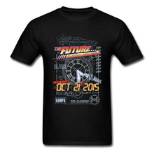 Back To The Future Science Movie T-Shirts USA Sci-Fi Evolution Print Men T Shirt Through Future Car Time Retro Tshirts 3D Man цена