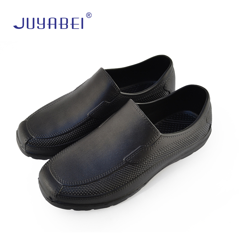 Men's Low Water Shoes Men's Short Tube Fashion Non-slip Wear-resistant Kitchen Chef Shoes Men's Waterproof Non-slip Oil Shoes