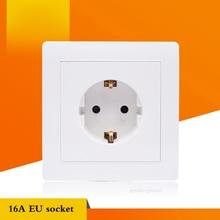 16A European Standard Wall Power Socket Panel Type 86 Wall Concealed Outlet 5p 63a cee iec international standard panel mounted straight socket waterproof concealed industrial socket sp 1252