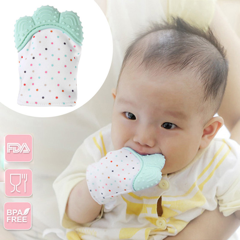 Silicone Teether Baby Pacifier Glove Naturlig Thumb Sound Tändning - Barnomsorg