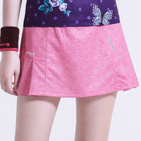 2019 tennis badminton skort ladies running sports skirt with pocket security safety pants skirt solid