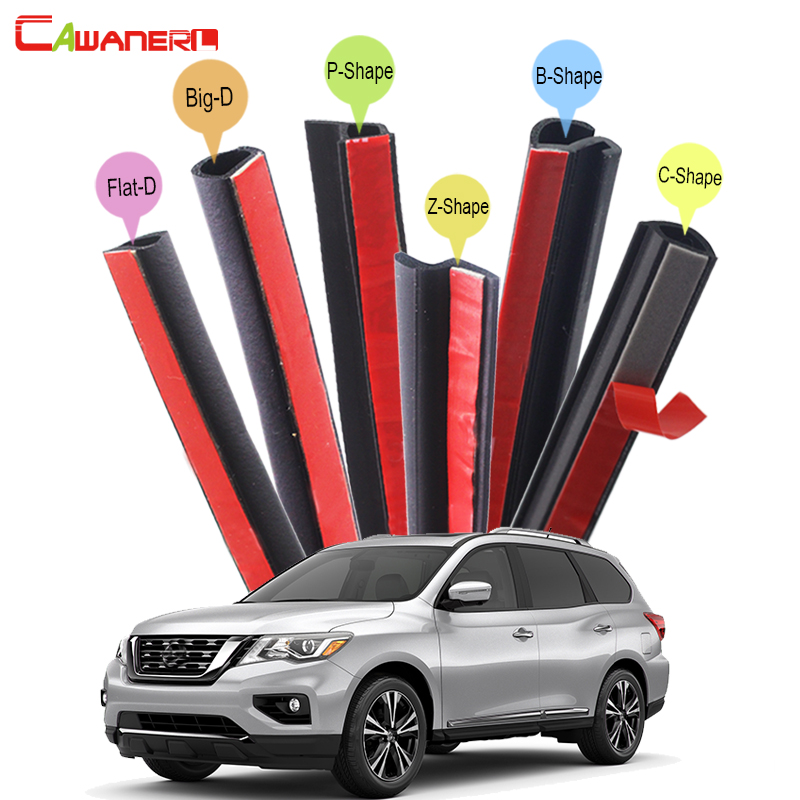 цена на Cawanerl Full Car Rubber Seal Sealing Strip Kit Seal Edge Trim Weatherstrip Sound Control For Nissan X-Trail Patrol Pathfinder
