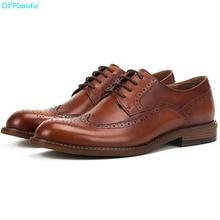 Fashion Blake brogue shoes men Handmade Genuine Calf Leather vintage formal shoes Wedding Office Derby Men dress shoes ally blake the secret wedding dress