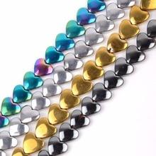 Wholesale 6*5mm Heart Shape Hematite Beads Diy Bracelet Neck