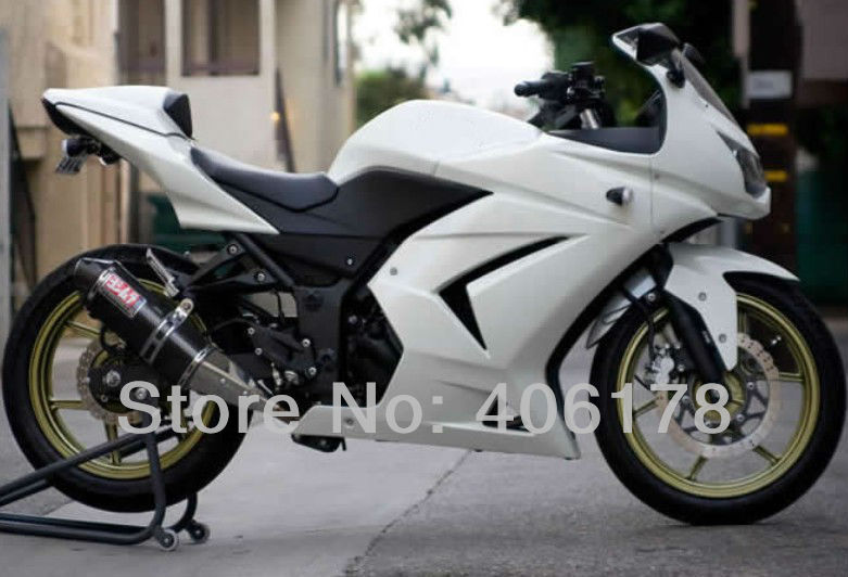 Hot Sales,Injection Mold Ninja 250R Fairing For Kawasaki ZX250R 2008-2012 Pearl White Bike ABS Fairing Kit (Injection molding) vehicle plastic accessory injection mold china makers