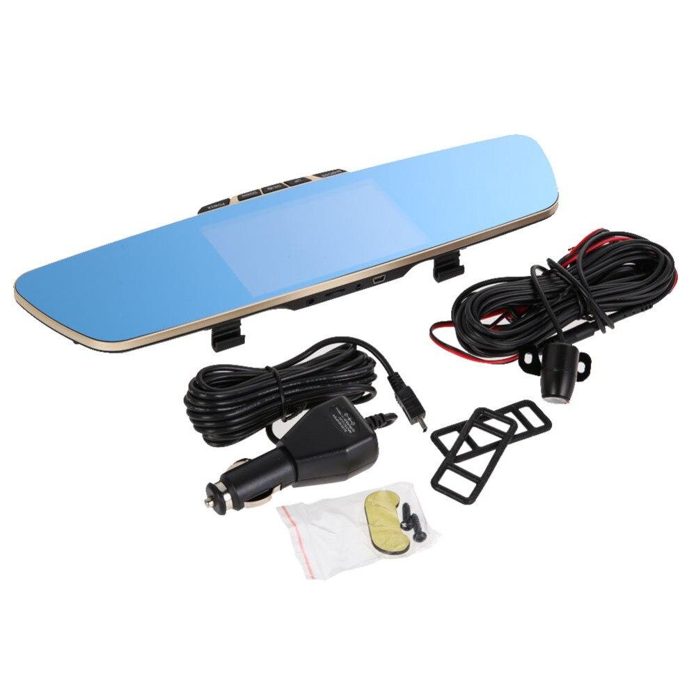 K550 5 0 Full HD 1080P Car Rearview Waterproof Dual Lens DVR Review Mirror Digital Video