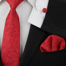 2016 New men ties adult neck tie set cufflinks hankies wedding business red necktie Handkerchiefs 2018 new fashion exquisite elegant noble red square zircon necklace earring set wedding bride party dress dinner jewelry set