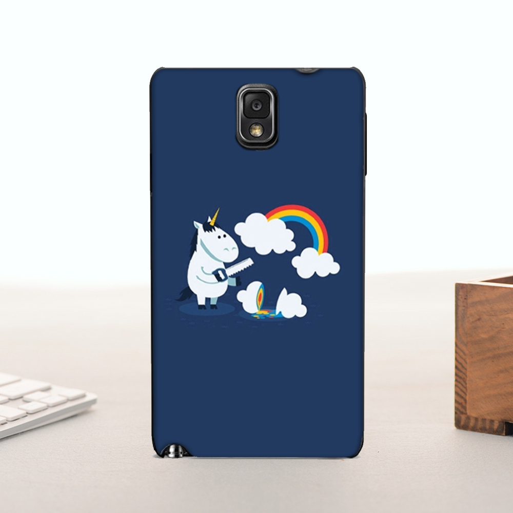 Alta calidad teléfono accesorios cubierta arco iris unicornio animales lindos pa