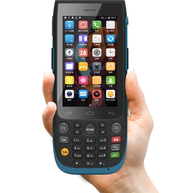 จัดส่งฟรีขนาดใหญ่ข้อมูล Mobile Terminal IP67 ป้องกัน Class PDA 2D Barcode Scanner Android 7.0 SH57