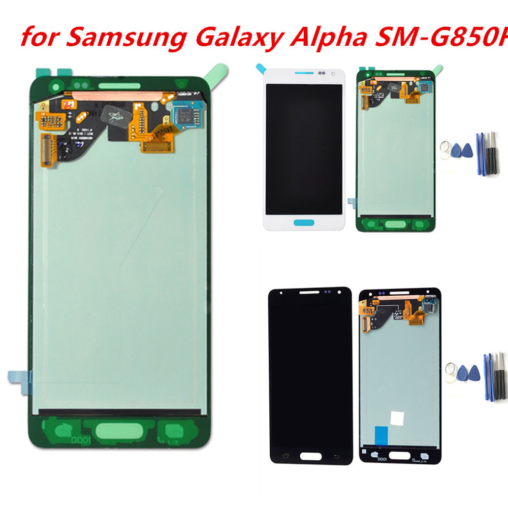 Super AMOLED LCDs For Samsung Galaxy Alpha G850 G850F G850M LCD Display Touch Screen Digitizer Assembly