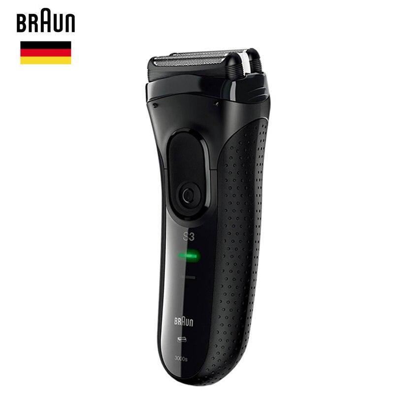 Braun Series 3 электробритв 3020 S S3 бритвы лезвия бороды бритвенный станок для Для мужчин Уход За Лицом Триммер для длинных волос 100-240 В